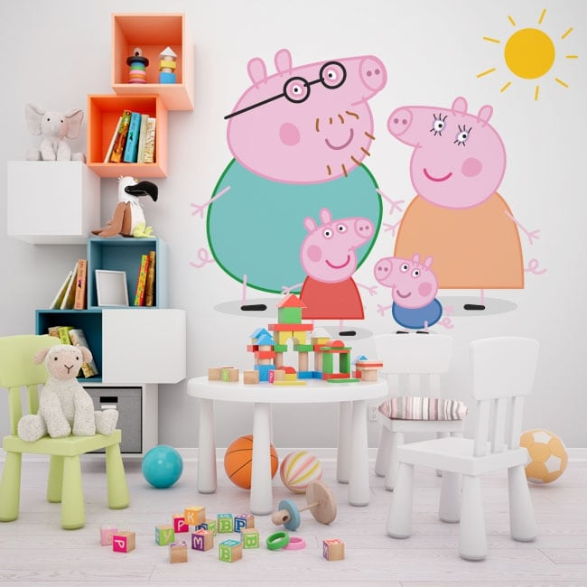 Decorative vinyl peppa pig
