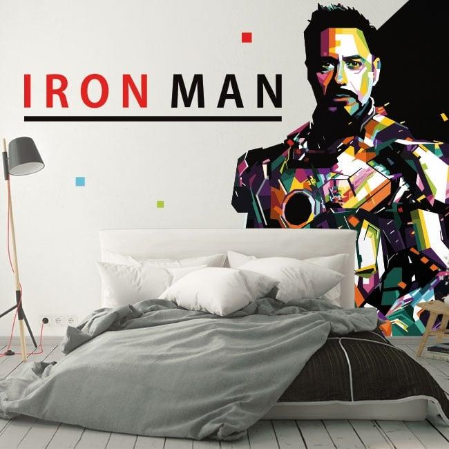 Decorative vinyl for walls iron man
