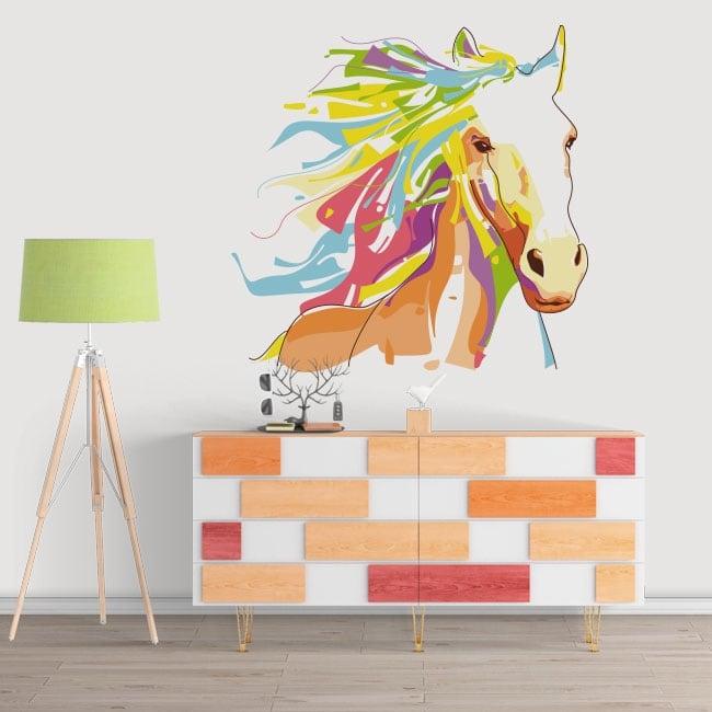 Decorative vinyl walls horse wpap style