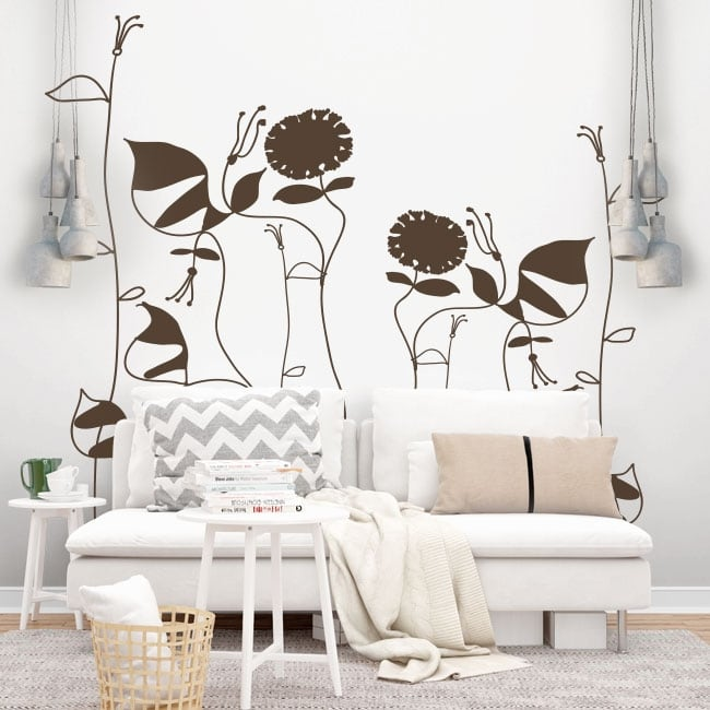 Decorative vinyl picasso flowers