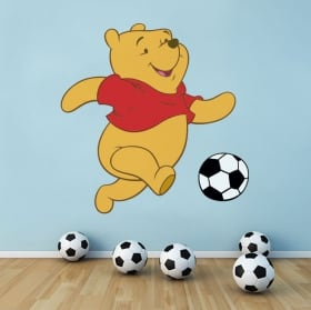 Decorative vinyl winnie the pooh football