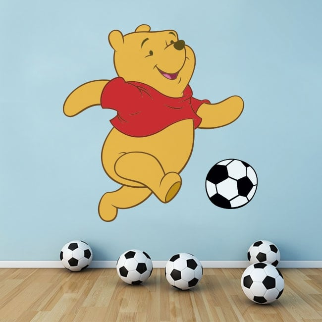 Decorative vinyl winnie the pooh football