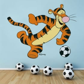 Vinyl and stickers winnie the pooh tigger football