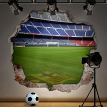 Vinyl football stadium camp nou barcelona 3d