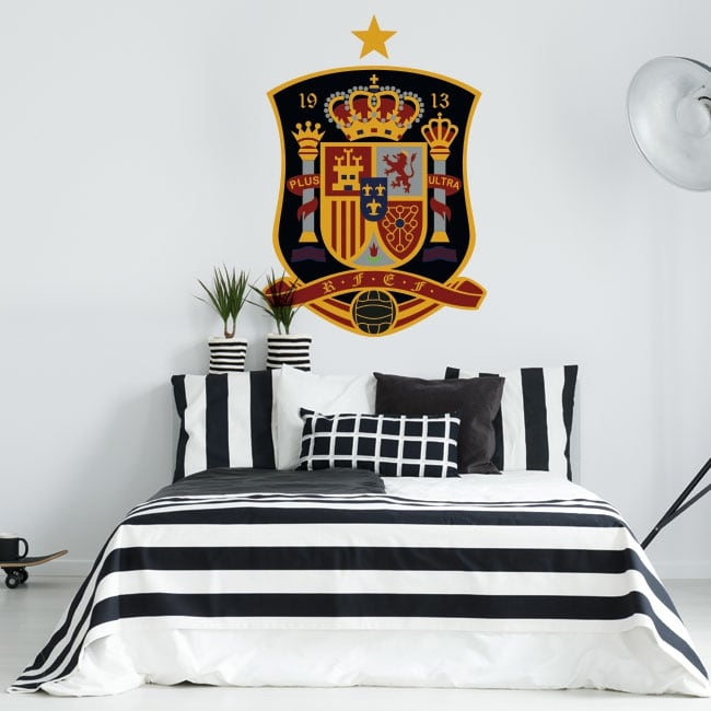 Vinyl and stickers shield football selection of spain