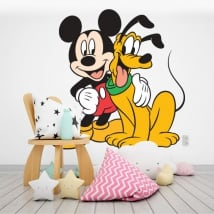 Children's vinyl disney mickey and pluto