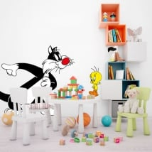Children's vinyl tweety and sylvester the cat
