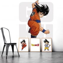 Decorative wall stickers goku dragon ball