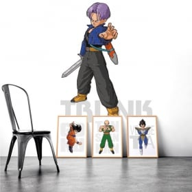 Vinyl adhesives and stickers dragon ball trunk