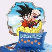 Vinyl walls dragon ball son goku 3d