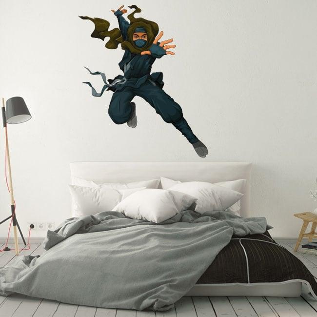 Decorative vinyl ninja silhouette