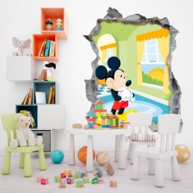 Wall stickers disney mickey mouse 3d