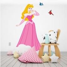 Children's vinyl disney princess and birds