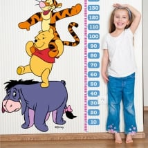 Children's vinyl height meters winnie the pooh