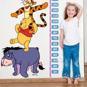 Children's vinyl height meters winnie the pooh