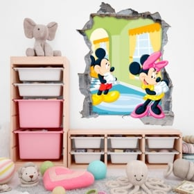 Wall stickers disney mickey and minnie mouse 3d