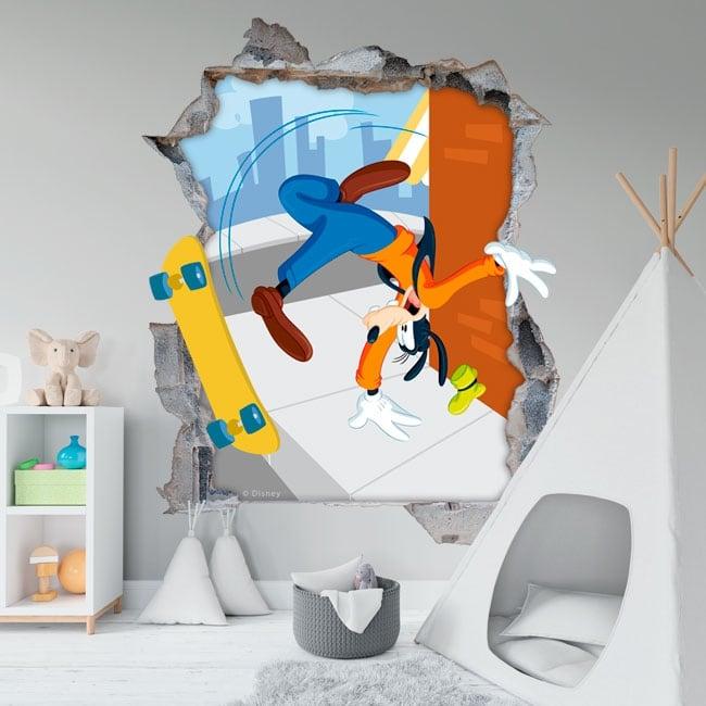 Vinyl walls disney goofy 3d