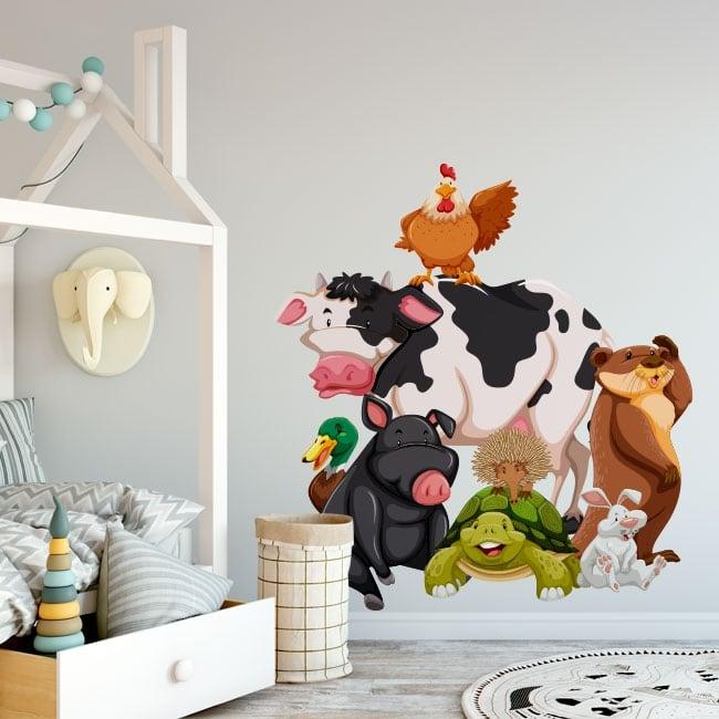 Children's vinyl farm animals