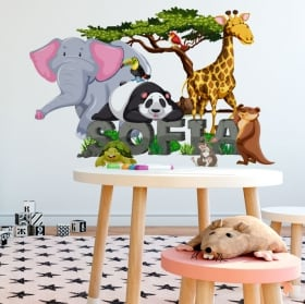 Stickers animals decorate children's rooms