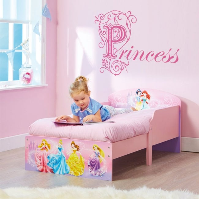 Stickers decorating children's rooms text princess