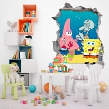 Stickers sponge bob decorate children's room