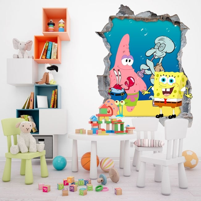 Stickers sponge bob decorate children's room
