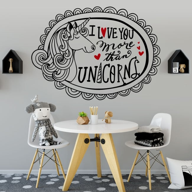 Decorative vinyl and stickers unicorn and phrase