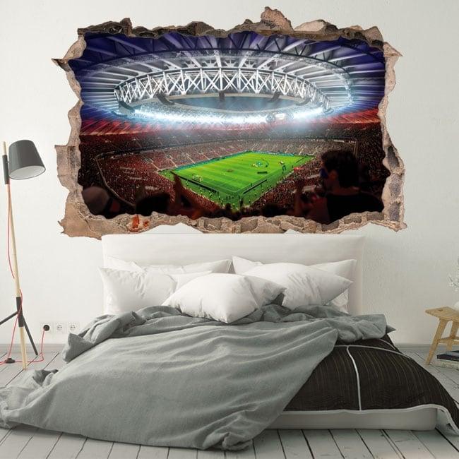 Vinyl walls football stadium world russia 2018 3d