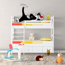 Decorative vinyl cat sylvester and tweety