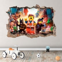 Vinyl hole wall 3d the lego