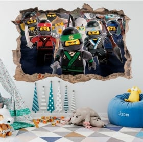 Vinyl and stickers lego ninjago 3d