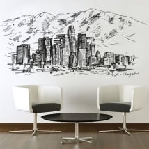 Vinyl and stickers skyline drawing city of angels