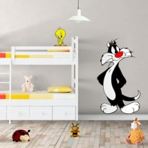 Vinyl and stickers tweety and sylvester cat