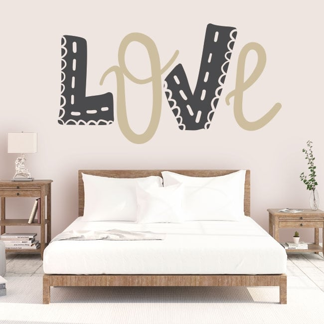 Vinyl and stickers love decoration walls and objects