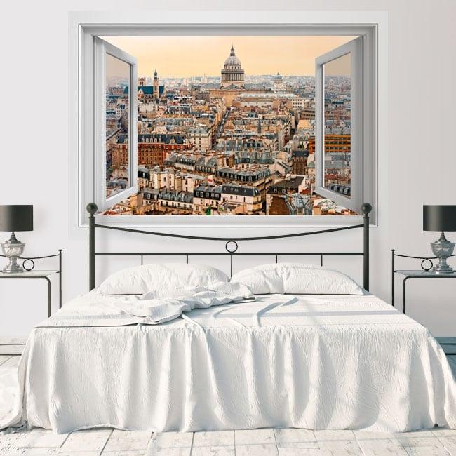 Vinyl decoration walls pantheon paris france 3d