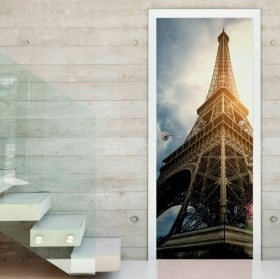 Vinyl and stickers for doors eiffel tower paris