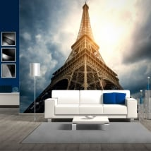 Vinyl wall murals eiffel tower paris france