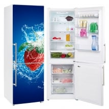Vinyl refrigerators and fridges strawberry splash