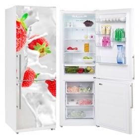 Vinyls for refrigerators strawberries splash