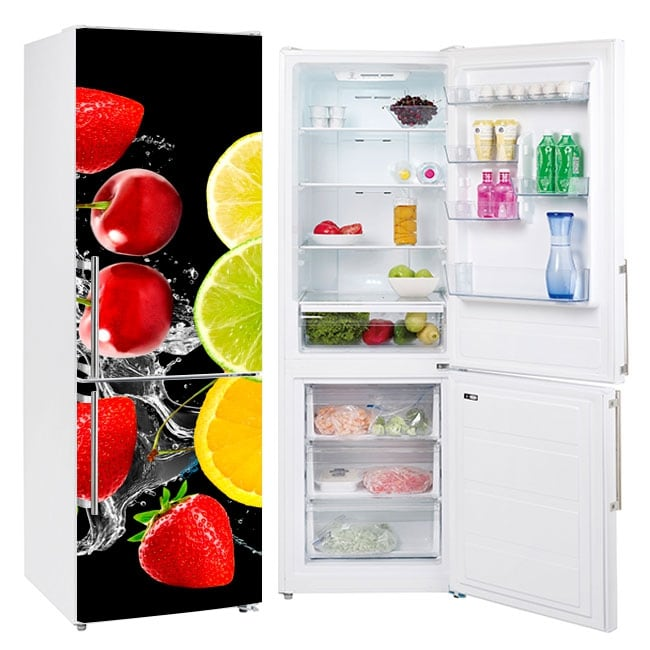 Vinyls for refrigerators fruits splash
