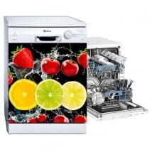 Vinyl dishwashing fruits splash