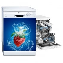 Adhesive vinyl dishwasher strawberry splash