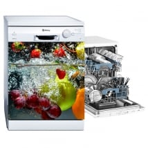 Adhesive vinyl dishwasher fruits in the water