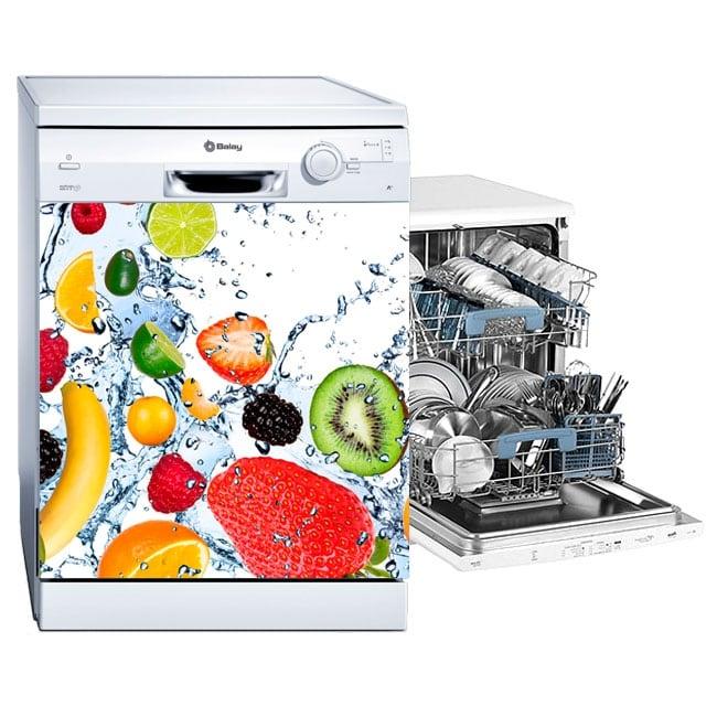 Vinyl for dishwasher fruits splash water