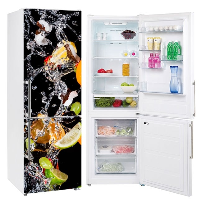 Vinyls for refrigerators fruits and water