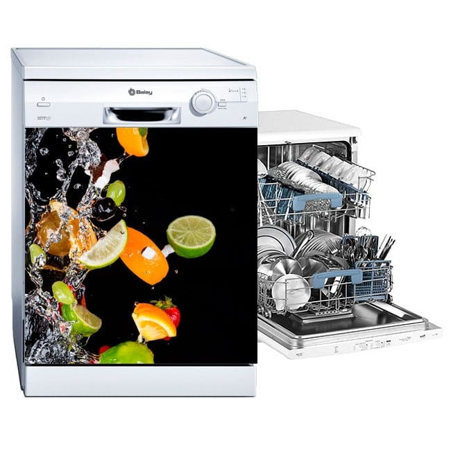 Vinyl for dishwasher fruits and water