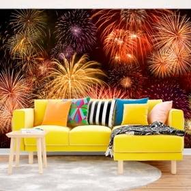 Vinyl wall murals fireworks
