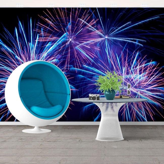 Wall murals fireworks