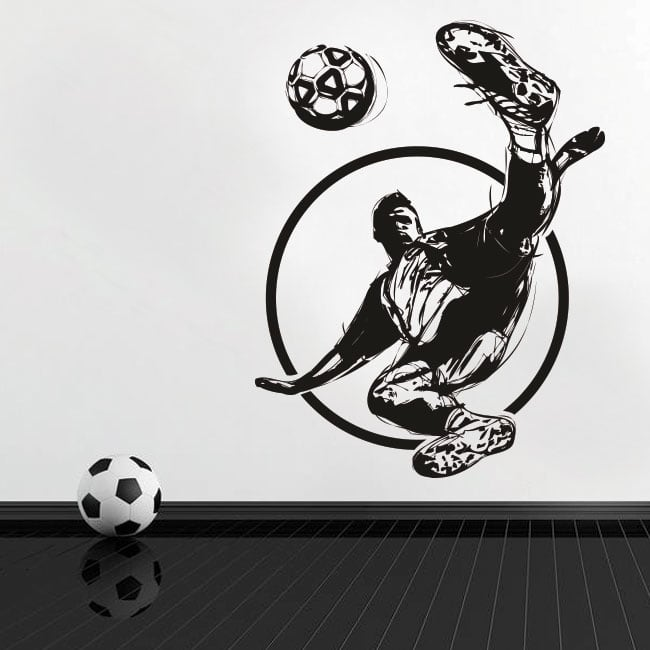 Decorative vinyl and stickers soccer player