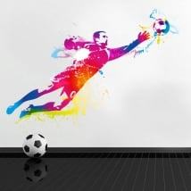 Vinyl and stickers goalie or goalkeeper football